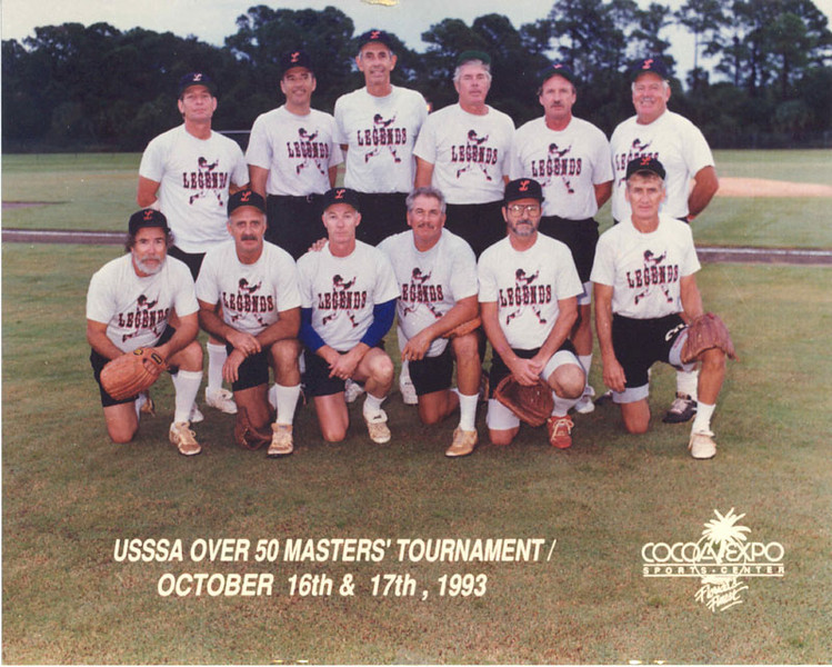 The Florida Legends won the 50+ USSSA Master's Tournament in Cocoa, Florida in October 1993.