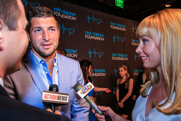 Stuart Webber of Action News and Katie Jeffries of First Coast News share an interview with Tim Tebow