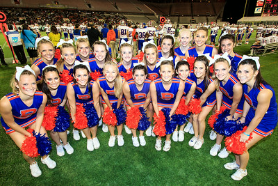 December 7, 2013: The Bolles Cheerleaders during the Bolles vs. Booker T. Washington Florida 4A State Championship Game at the Orlando Citrus Bowl. -James Vernacotola