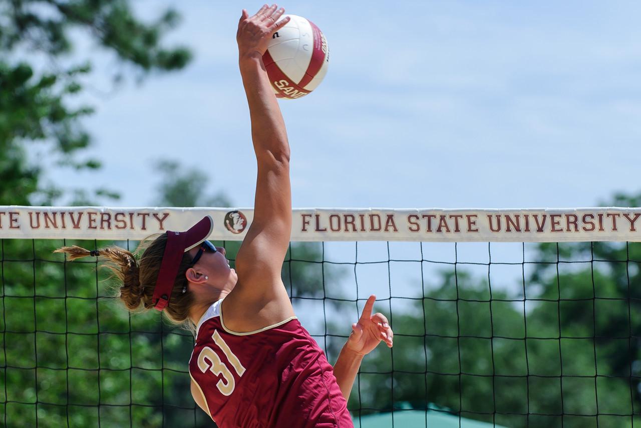 Florida State U Sand Volleyball Senior Day 2013
