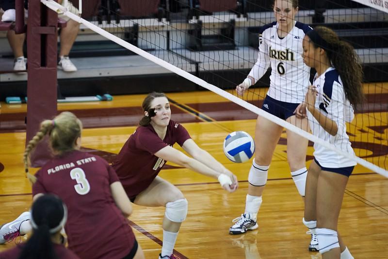 FSU Volleyball 3 Notre Dame 0