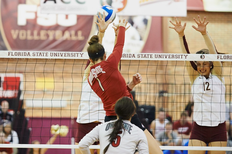 FSU Volleyball 1  Ohio State 3