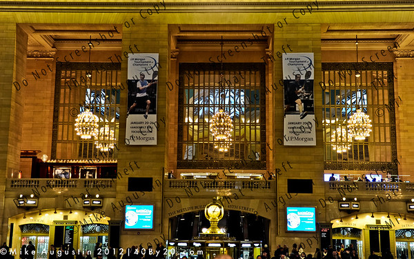 Grand Central Terminal in NYC.  Host venue for the 2012 JP Morgan Tournament of Champions-Squash Jan 20-26.