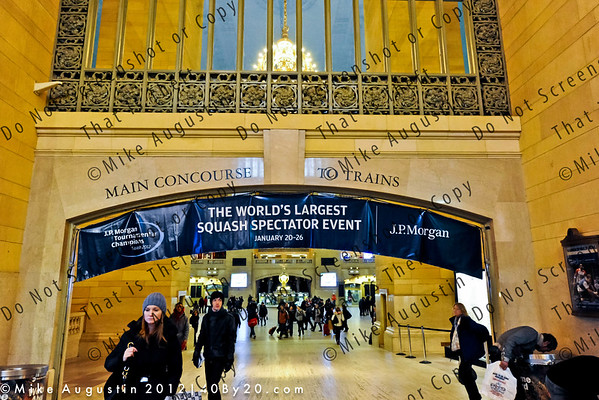 Grand Central Terminal, NYC. Host site of the 2012 JP Morgan Tournament of Champions-Squash Jan 20-26, 2012