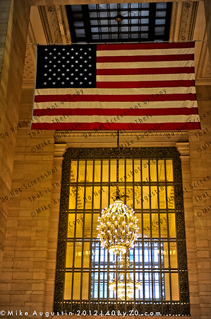 Old Glory at Grand Central Terminal, NYC. Host site of the 2012 JP Morgan Tournament of Champions-Squash.