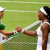 Heather Watson and Serena Williams, Centre Court, Wimbledon