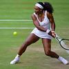 Serena Williams on Centre Court Wimbledon 2015