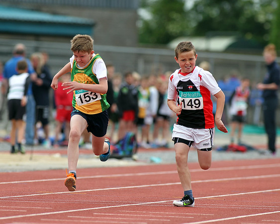 Patrick Power(149 Shercock AC) and Leo jenning (153 Annalee AC) in boys U/11 60m sprint