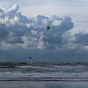 Jumping Kitesurfing and clouds