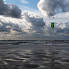 Kitesurfing just before the Sunset