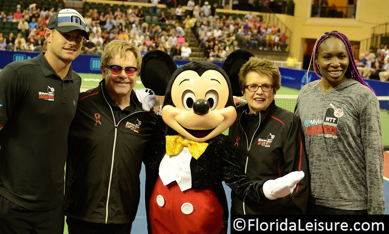 2013 Mylan WTT Smash Hits with Elton John and Billie Jean King (Photographer: Nigel Worrall)