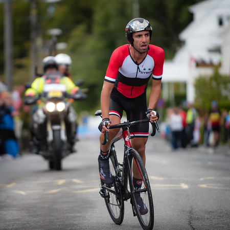 A. B. Wais up Mount Fløyen in The Cycling Road World Championships Men Elite Individual Time Trial 20/9-2017.