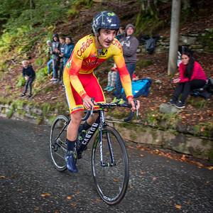 Gorka Izaguirre Insausti up Mount Fløyen up Mount Fløyen in The Cycling Road World Championships Men Elite Individual Time Trial 20/9-2017.