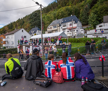 Up Mount Fløyen in The Cycling Road World Championships Men Elite Individual Time Trial 20/9-2017.
