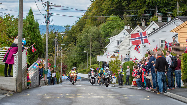 A. Lutsenko up mount Fløyen in The Cycling Road World Championships Men Elite Individual Time Trial 20/9-2017.