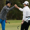 Lydia Ko (left) and Eun-Hee Ji (right) at 2019 Diamond Resorts Tournament of Champions, Tranquilo Golf Course, Lake Buena Vista, Florida - 17-20 January 2019 (Photographer: Nigel G Worrall)