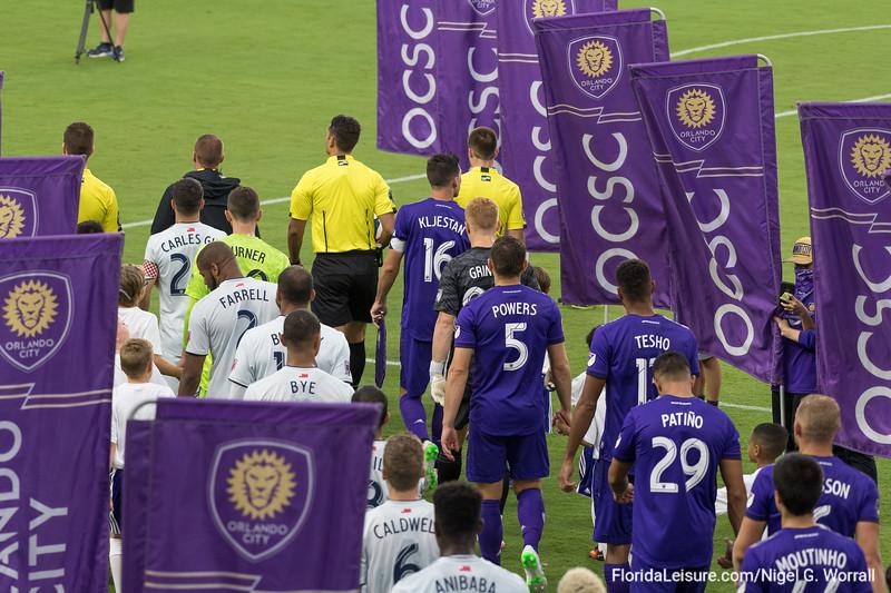 Orlando City Soccer 2 New England Revolution 1, Exploria Stadium, Orlando, Florida - 19th June 2019  (Photographer: Nigel G Worrall)