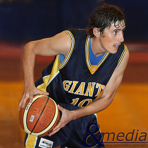 040709GGGBK8906 SBL - Goldfields Giants vs Geraldton Buccaneers Giants' guard Ryan Hulme in action during his 300th SBL game. Photo by Travis Anderson