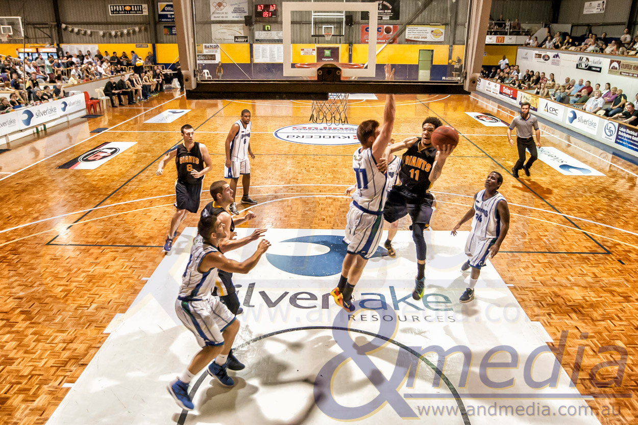 WA State Basketball League 2014: Goldfields Giants vs Stirling Senators - Mens Round 3