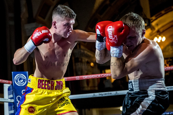 23rd Sept 2018, Tyler Denny vs Reece Cartwright FightNight Walsall Town Hall, Birmingham