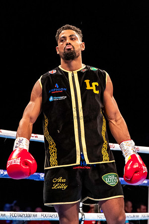 30th Nov 2019, MIdlands Mayhem, British Super-Middleweight Tiltle, Lerrone Richards vs Lennox Clarke, Birmingham Arena