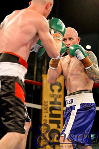150411GMB311521 Green Machine Boxing: The Next Generation Clint Hosking vs Brendan Batty - Junior Welterweight Bout Clint Hosking squares up to Brendan Batty. Photo: Travis Anderson - Andmedia/Sports Vision ©2011