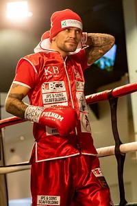 9th NOv 2019, Kane Baker vs Myron Mills, English Lightweight Title, Holte Suite, Villa Park