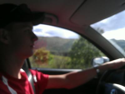 Den koncentrerede chauffør