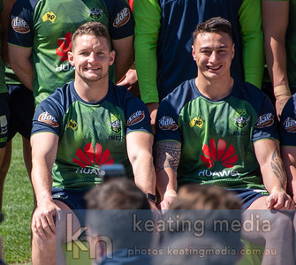 Canberra Raiders members run