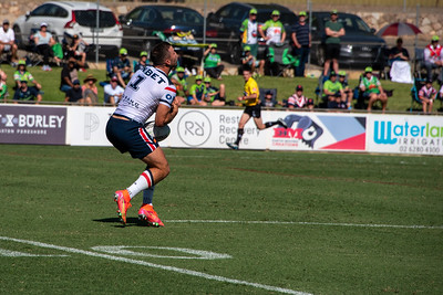 Sydney Roosters' James Tedesco spills the ball