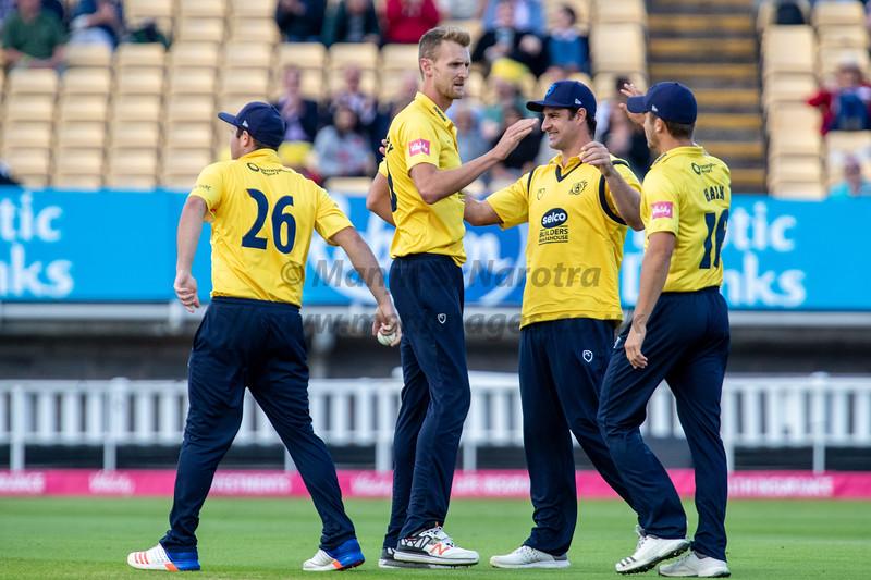 15th August 2018, Birmingham Bears vs Lancashire Lightning, T20 Vitality Blast
