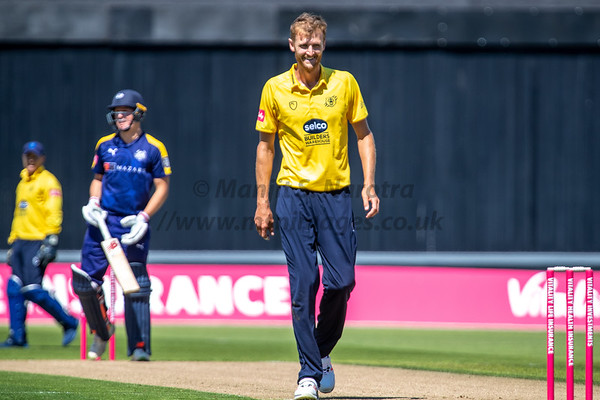 8th June 2018, T20 Blast, Birmingham Bears vs Yorkshire Vikings, Edgbaston
