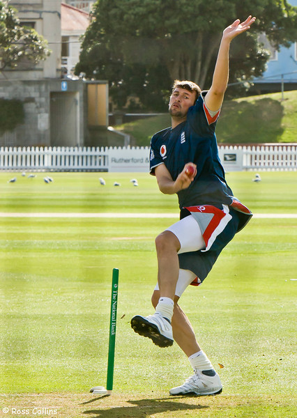 England in the Nets, Basin Reserve, Wellington, 11 March 2008