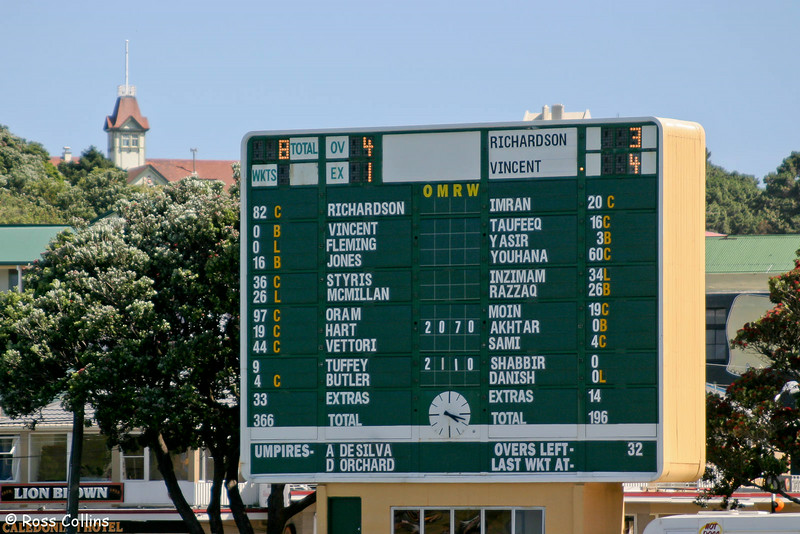NZ vs. Pakistan, 3rd Day, Basin Reserve, Wellington, 28 December 2003