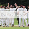 Sudbury celebrate the wicket of Jaik Nikleburgh. Picture by Gary Donnison