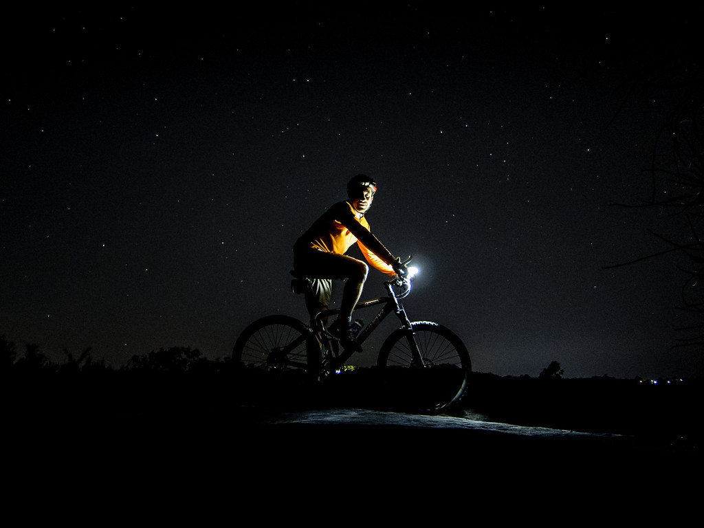 Night MTB Ride at Manly Dam with Ant.