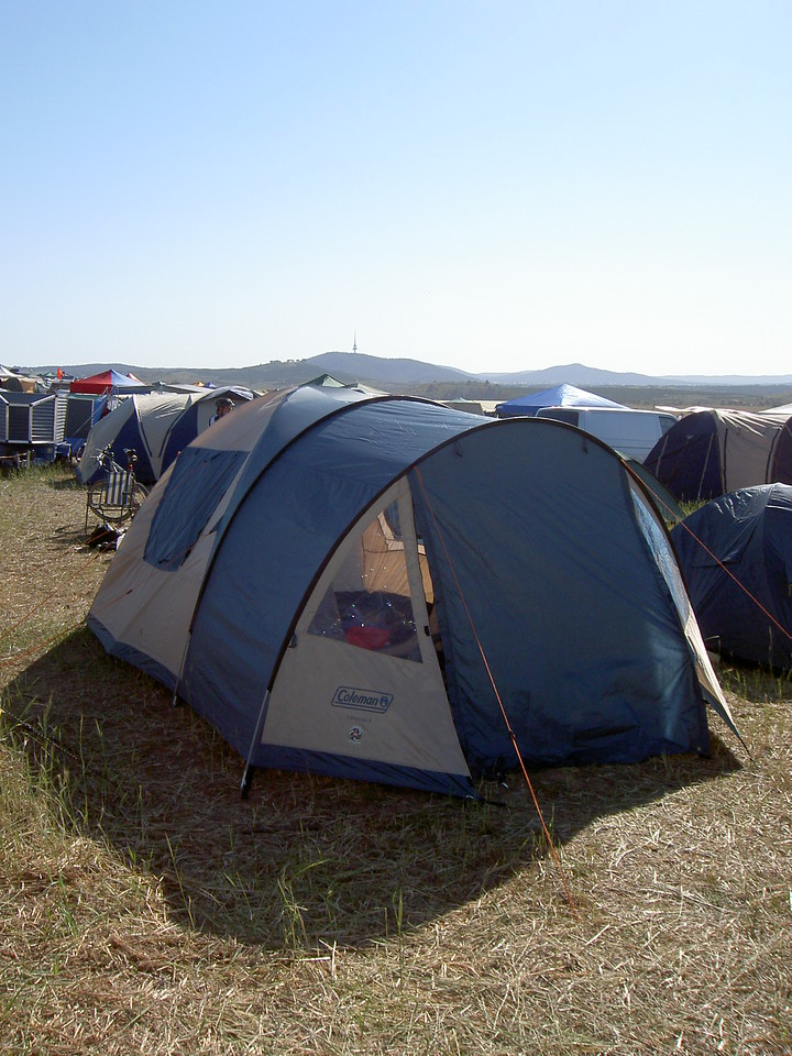 Our spacious new tent