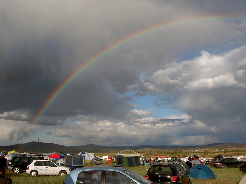 Rainbow over the site