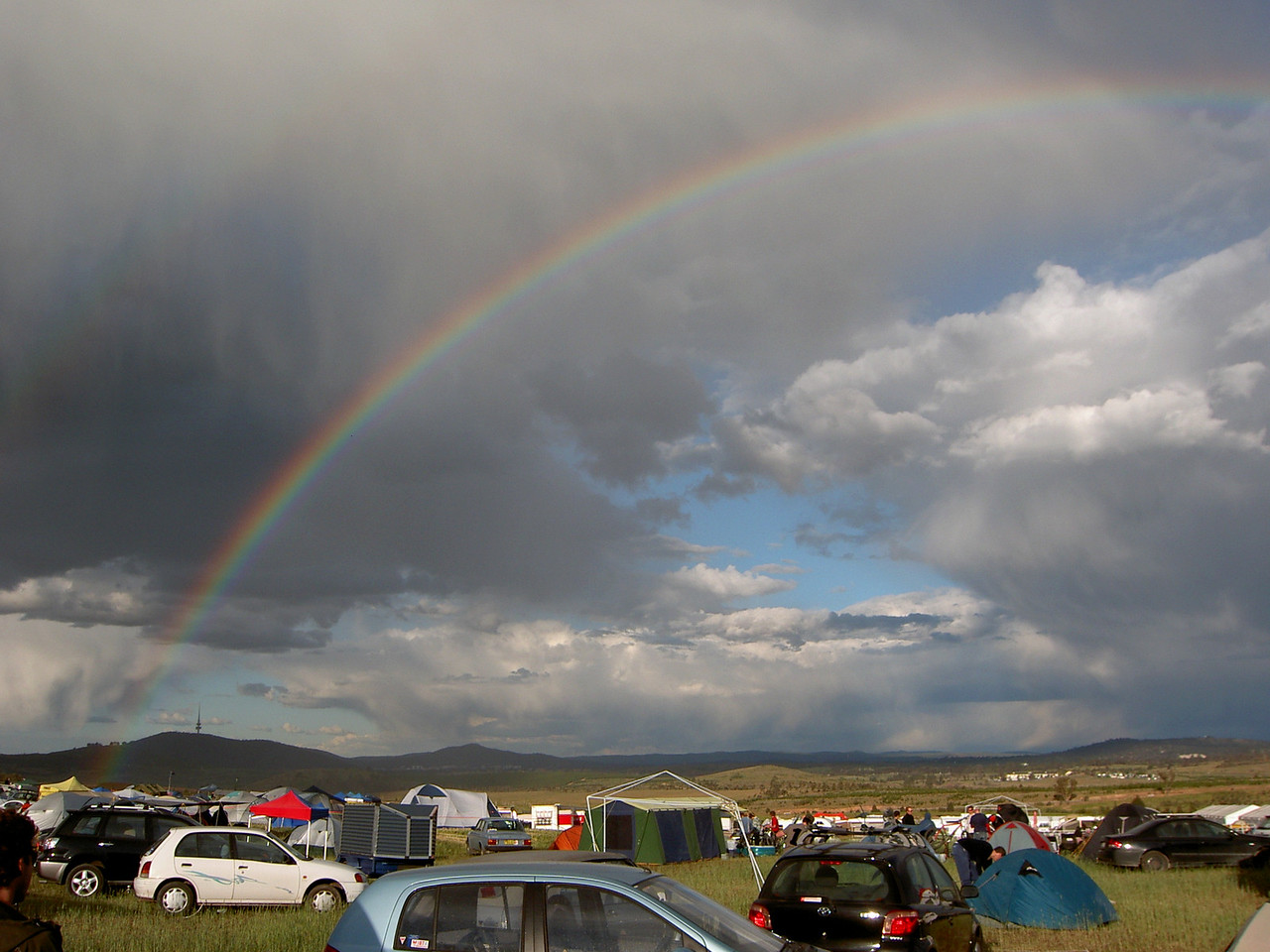 Rainbow over the site