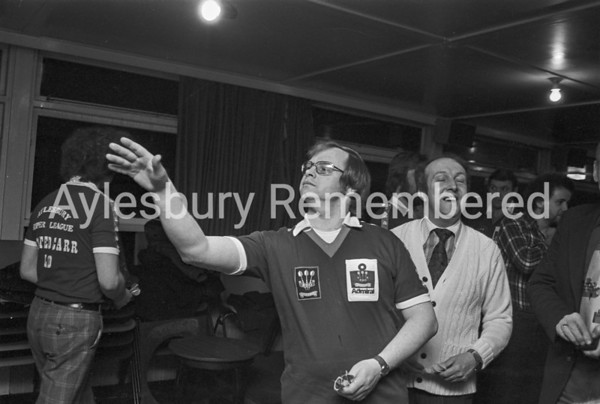 Aylesbury Darts League team, March 1979