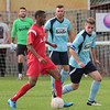 MDEP-24-09-2016-024 Ely City FC v Diss Town FA Vase Ely No 7 Kelvin Enaro is marked by Joe Manning