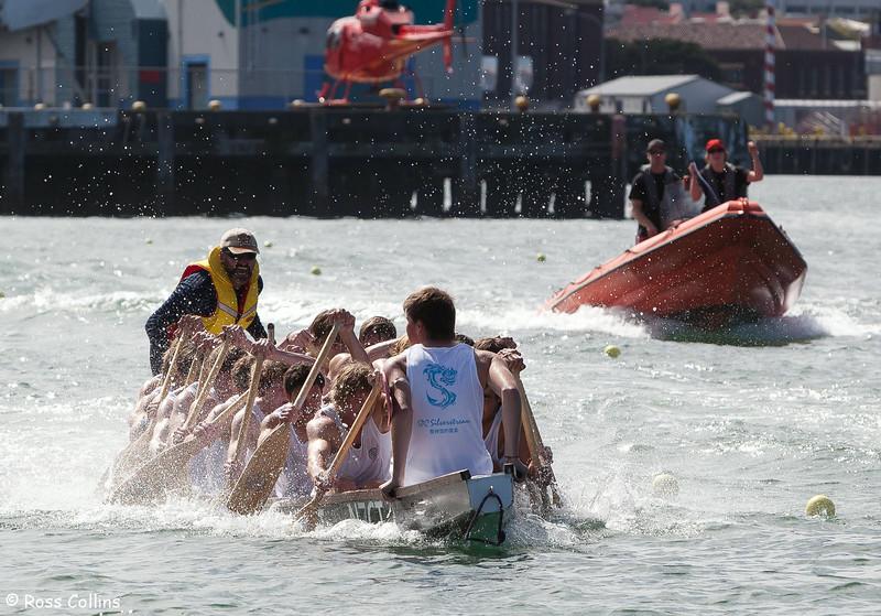 Wellington Dragon Boat Festival, Schools Day, Queens Wharf, Wellington, 20 March 2011