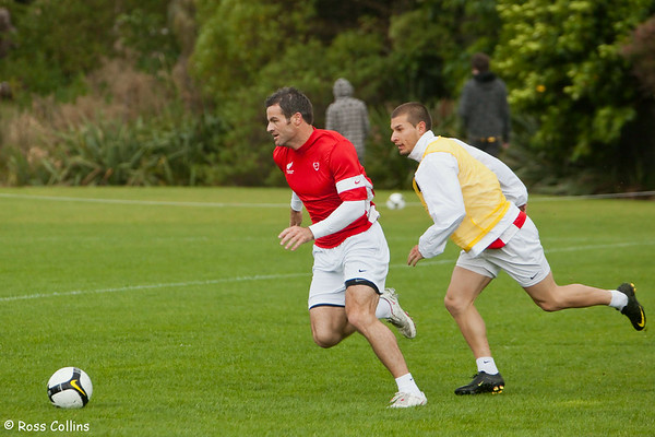 All Whites in Training for World Cup Qualifier, Endeavour Park, Whitby, Wellington, 11 November 2009