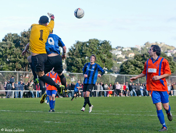Miramar Rangers vs. Wellington United, Chatham Cup Quarterfinal, David Farrington Park, 25 July 2010