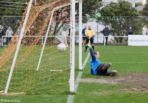 Miramar Rangers vs. Wellington Olympic, David Farrington Park, Wellington, 17 August 2013
