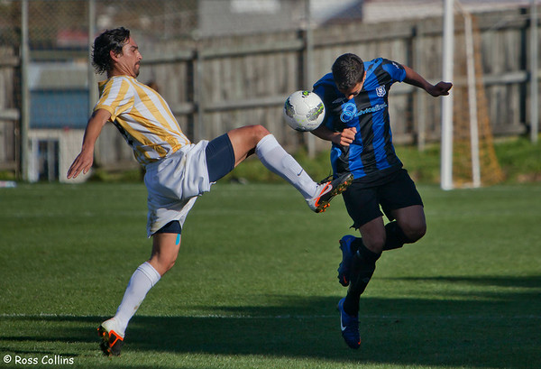 Miramar Rangers vs. Central United, Chatham Cup Semifinal, David Farrington Park, Wellington, 4 August 2012
