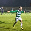 Russell Jones celebrates his winning goal.