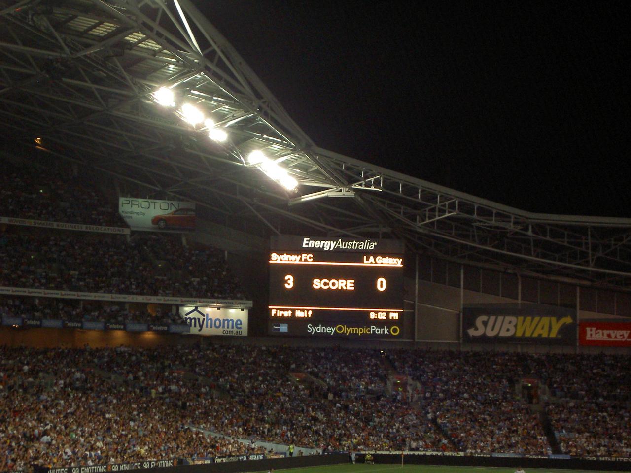 Sydney FC don't see that kinda score often, but then LA Galaxy are crap.