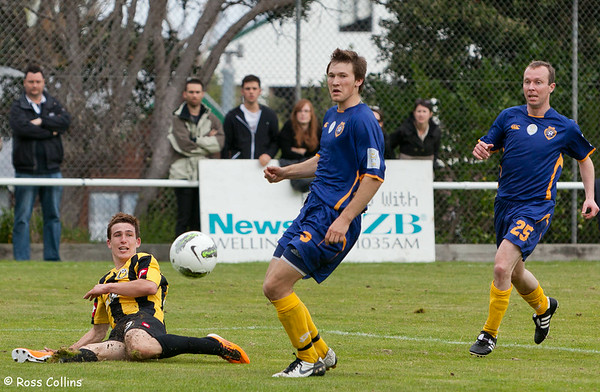 Team Wellington vs. Otago United, ASB Premiership, David Farrington Park, 23 October 2011