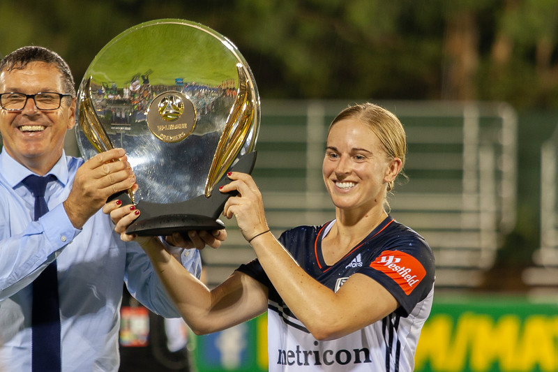 Natasha Dowie W-league Premiers Trophy